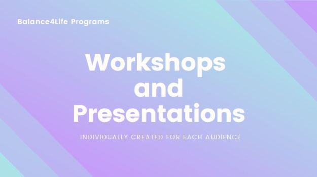 balance4life workshops